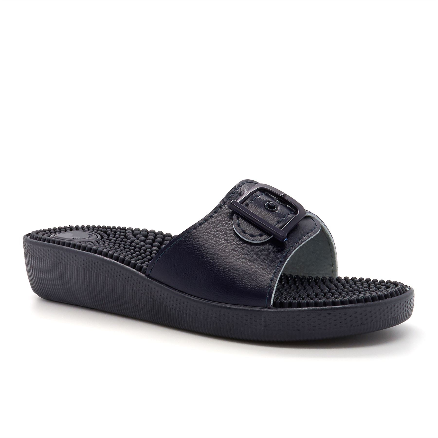 Navy Blue Adjustable Massage Mules