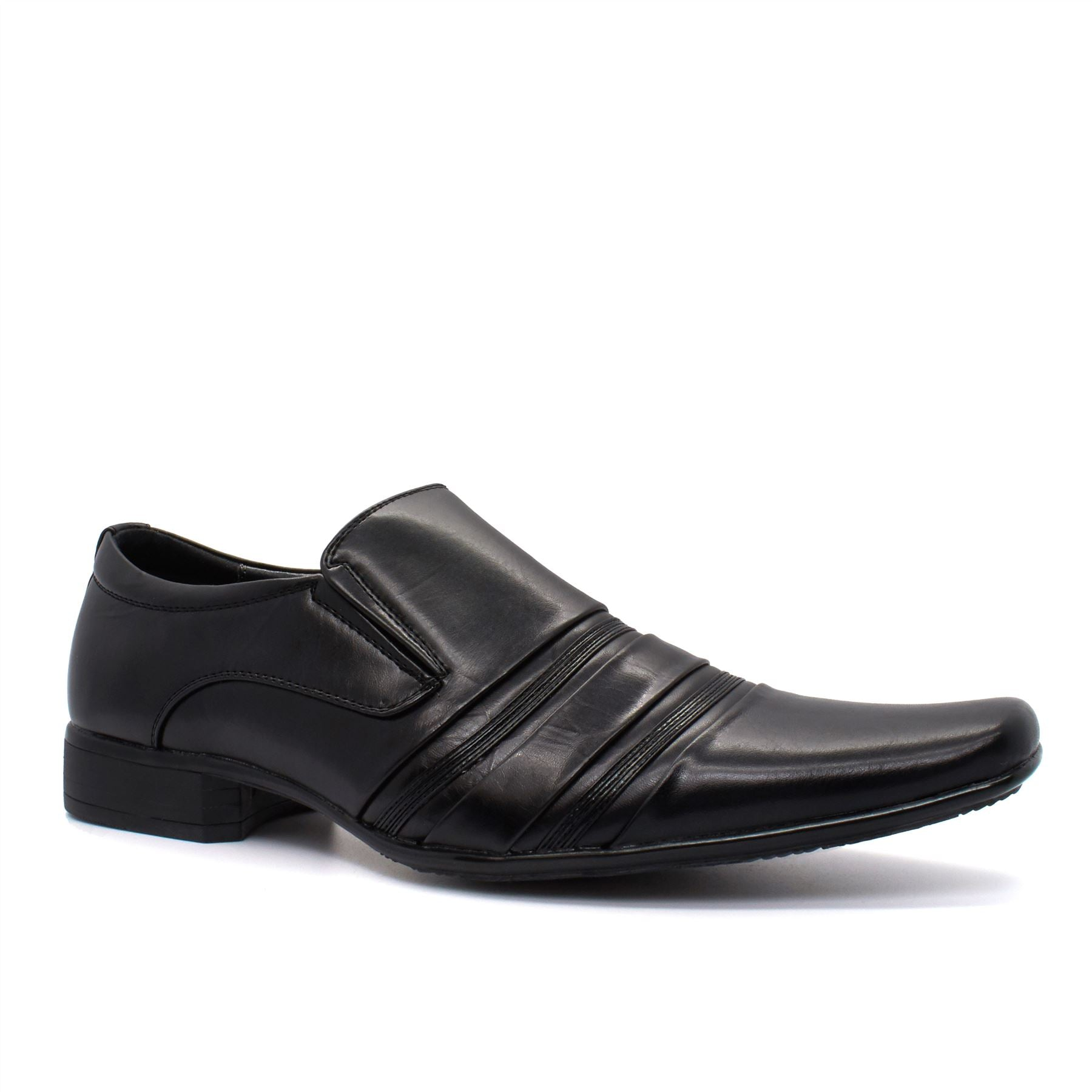 Black Faux Leather Slip On