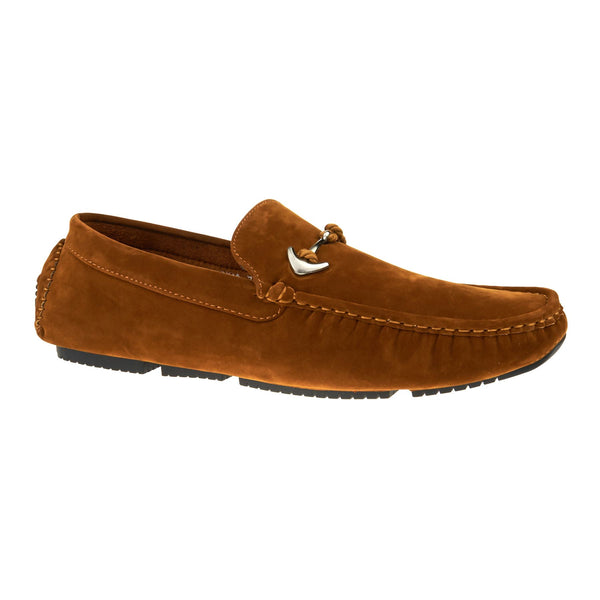 Tan Anchor Buckle Driving Shoes