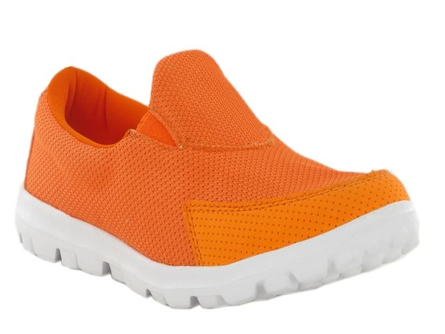 Orange Lightweight Textile Mesh Trainers