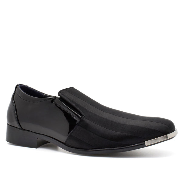 Black Pin Stripe Slip On Shoes