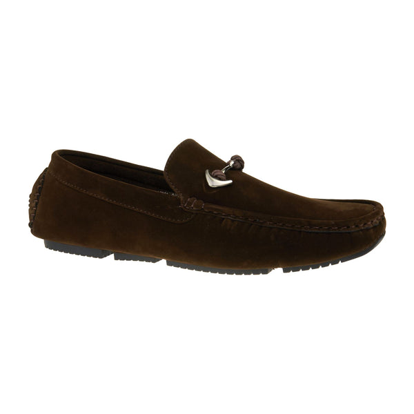 Brown Anchor Buckle Driving Shoes