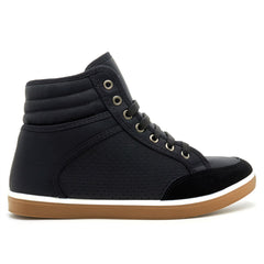 Black Contrast Sole Hi Top Trainers