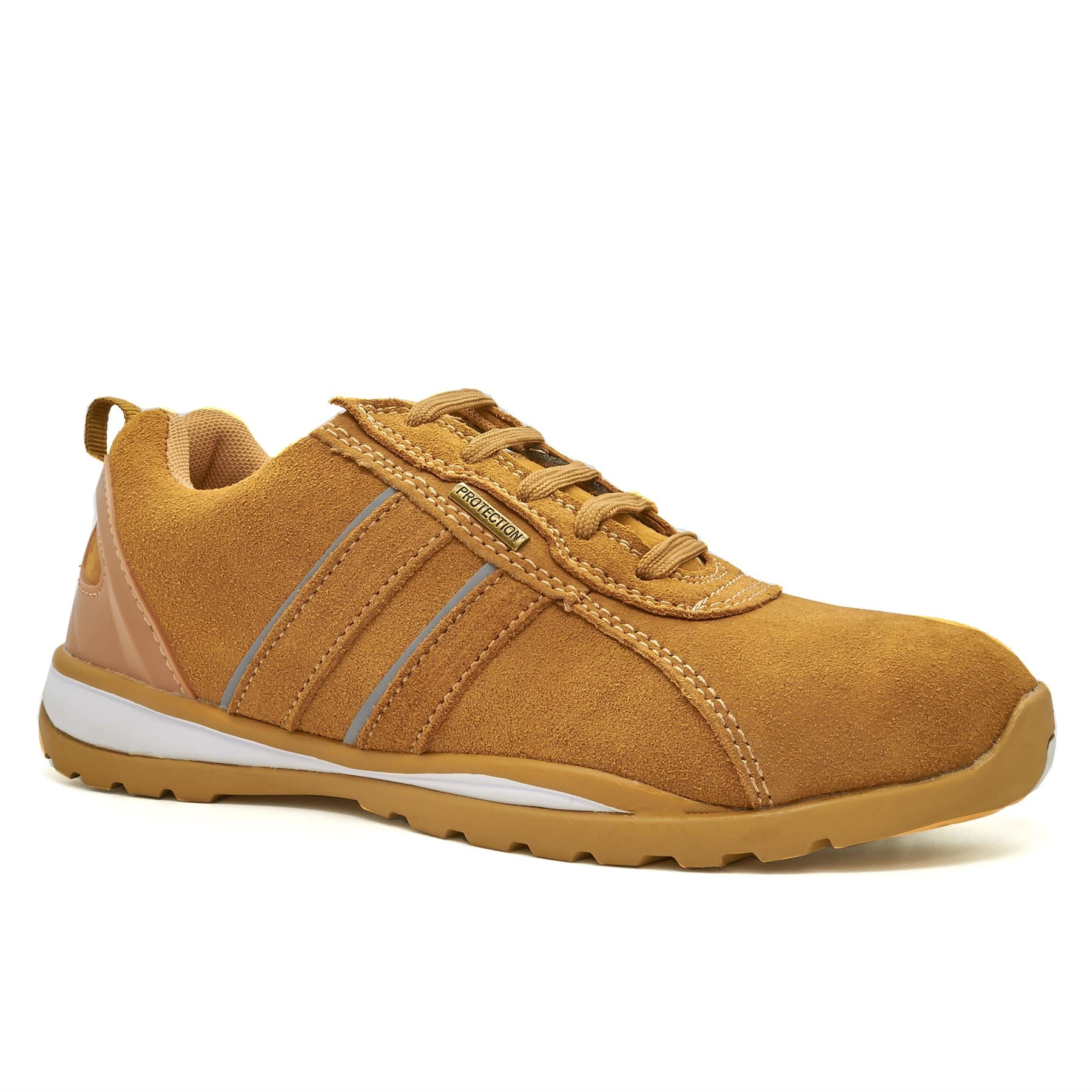 Sand Suede Safety Trainers