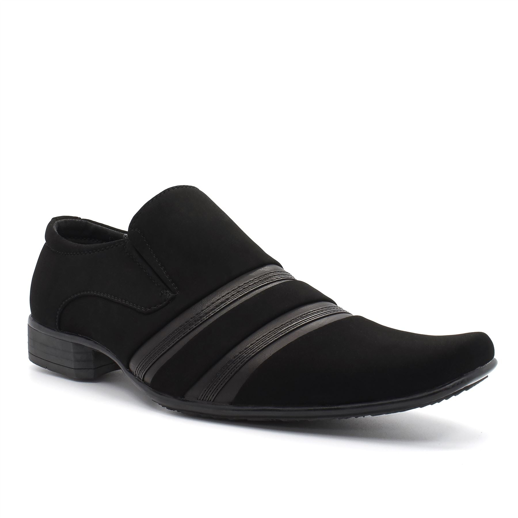 Black Suedette Slip On