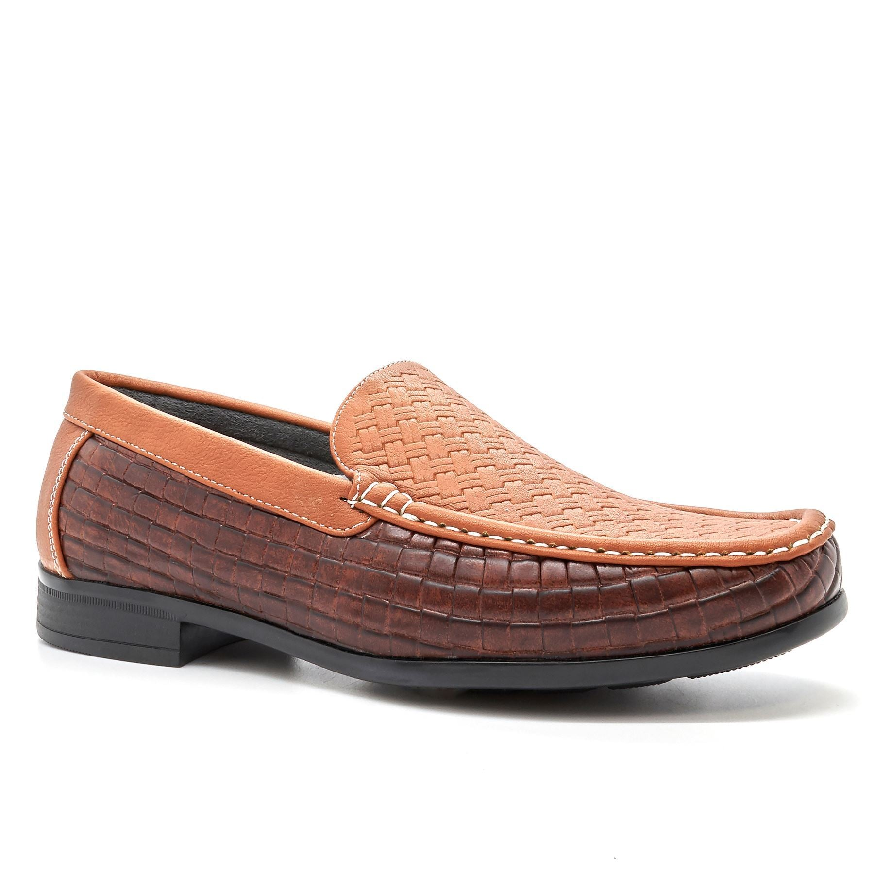 Tan Woven Style Loafers