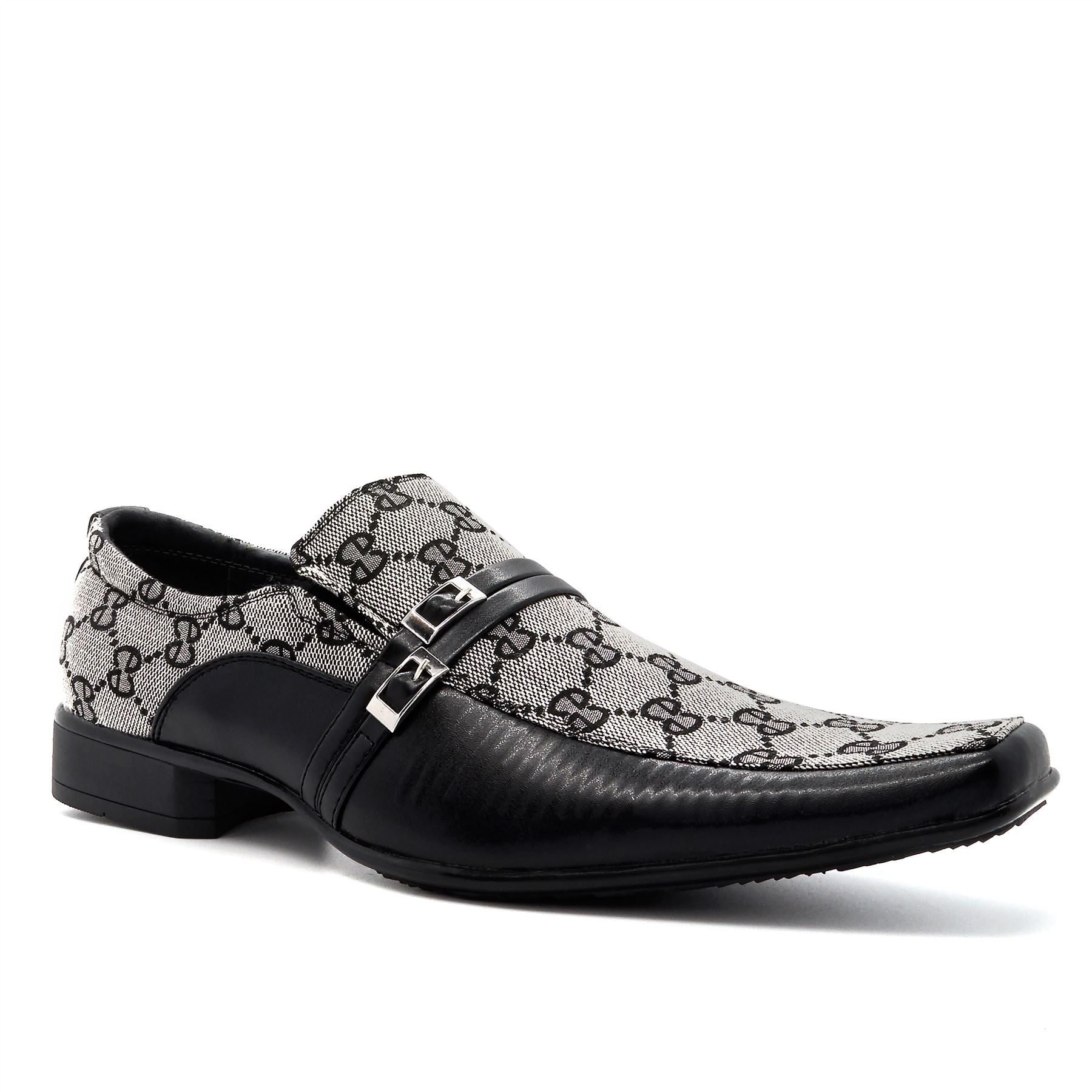 Black & White Diamond Pattern Slip On