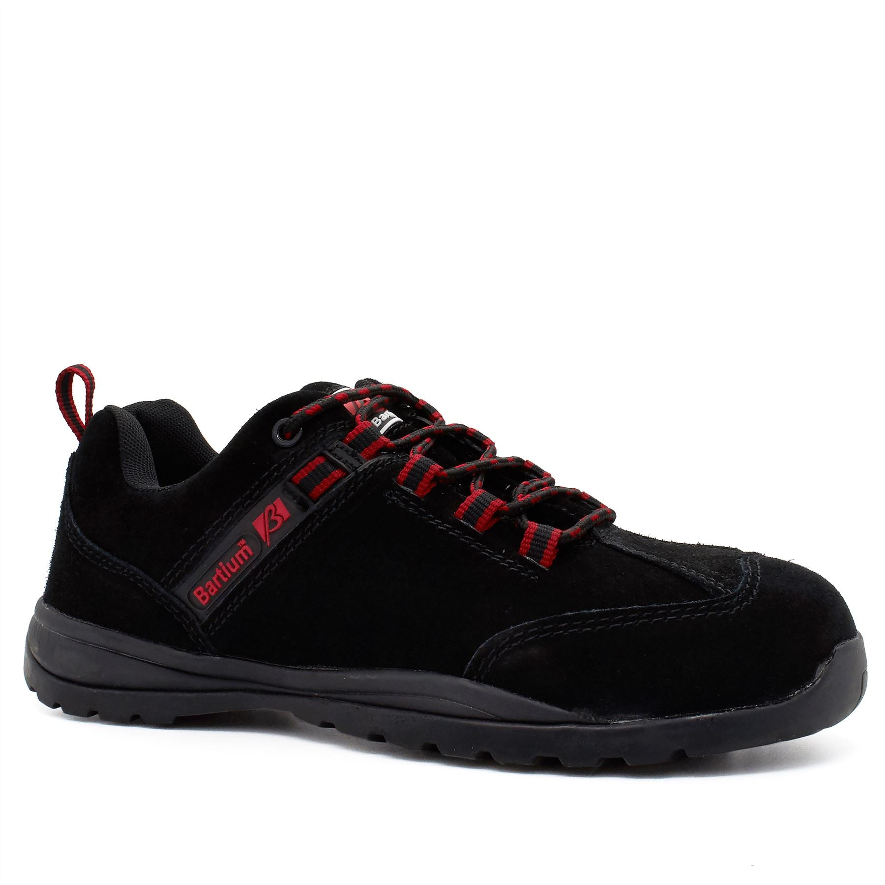 Black Suede Composite Safety Trainers