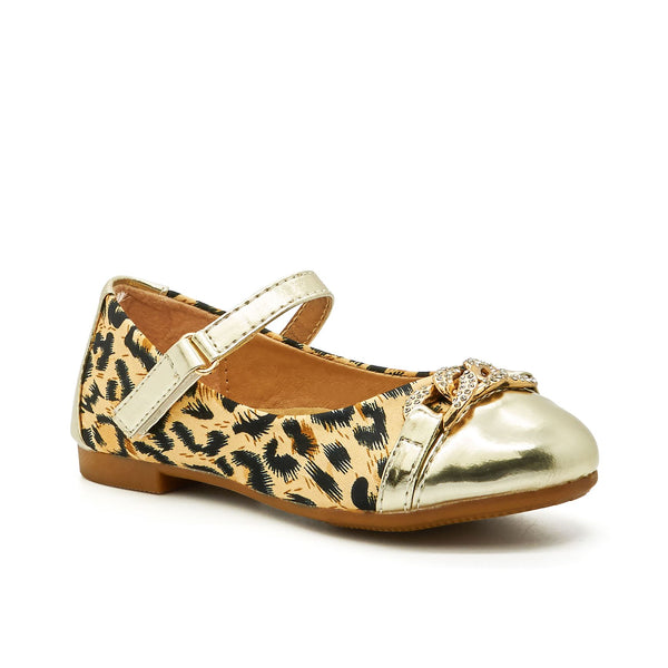 Gold Leopard Print Mary Janes