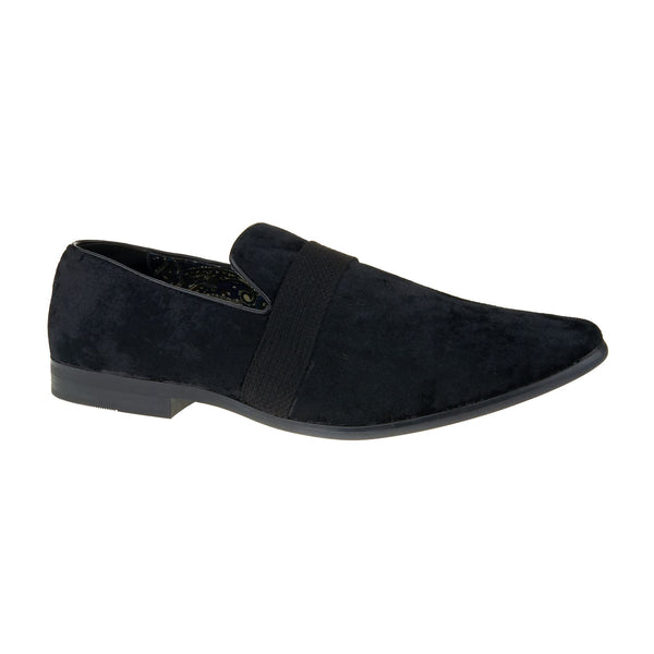 Black Velvet Slip On Loafers