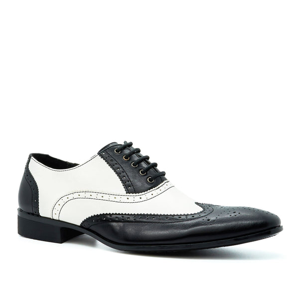 Black & White Lace Up Oxford Shoes