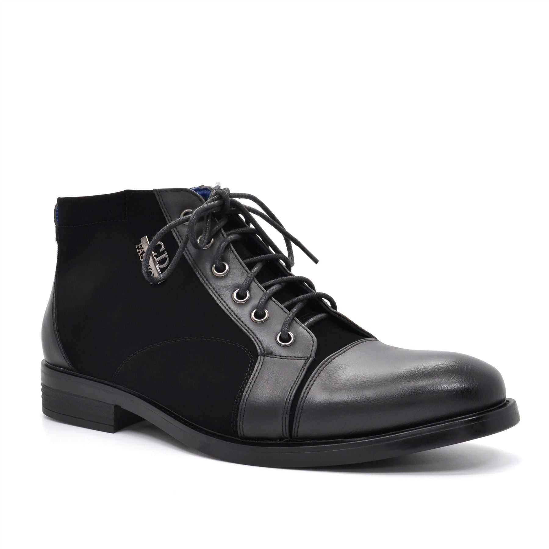 Black Suedette Lace Up Boots
