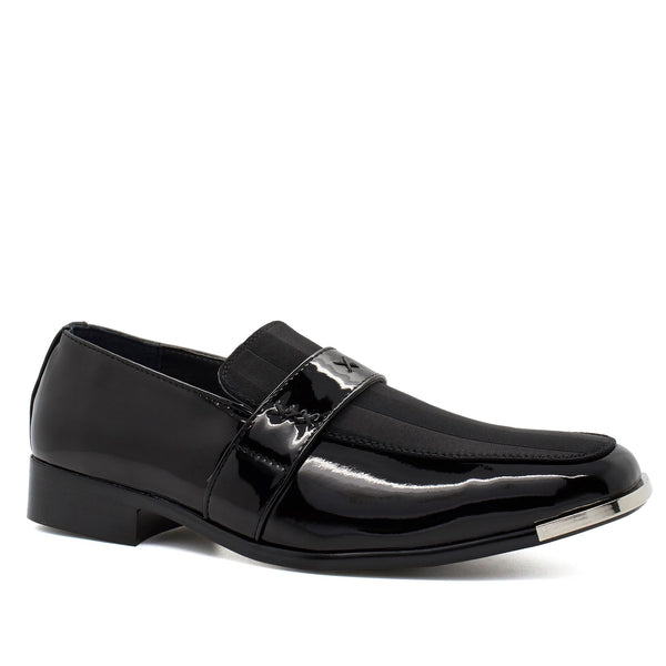 Black Patent Pin Stripe Shoes
