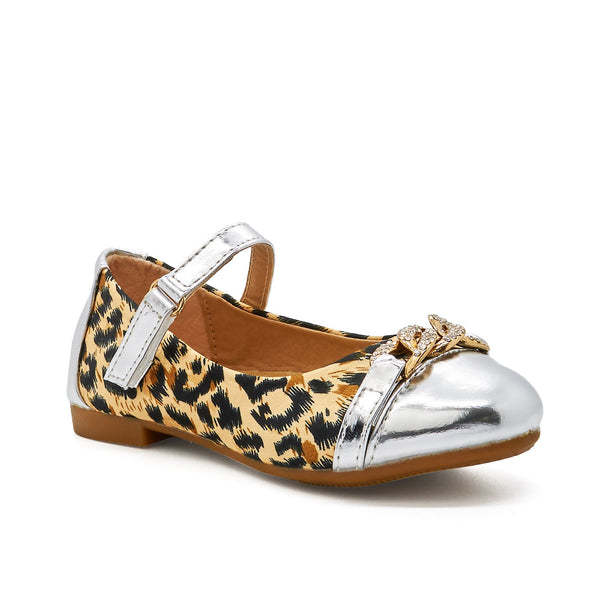 Silver Leopard Print Mary Janes