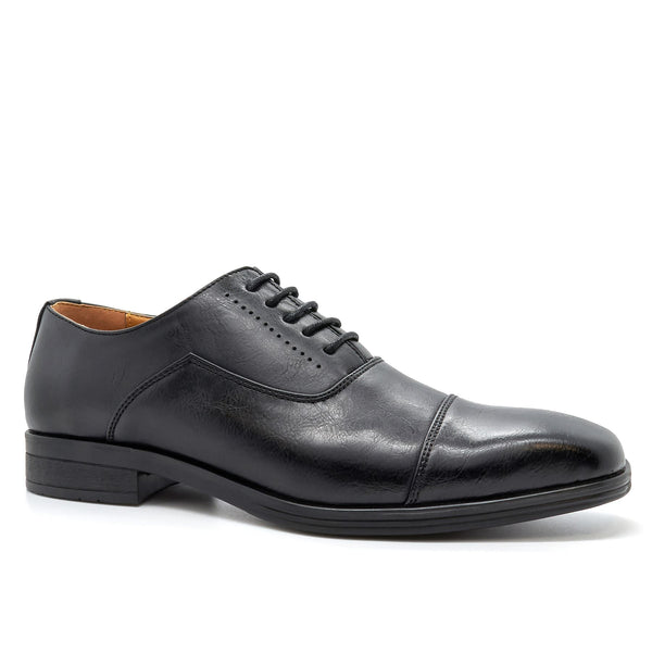 Black Toe Cap Oxford Shoes