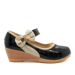 Black Bow Detail Mary Janes