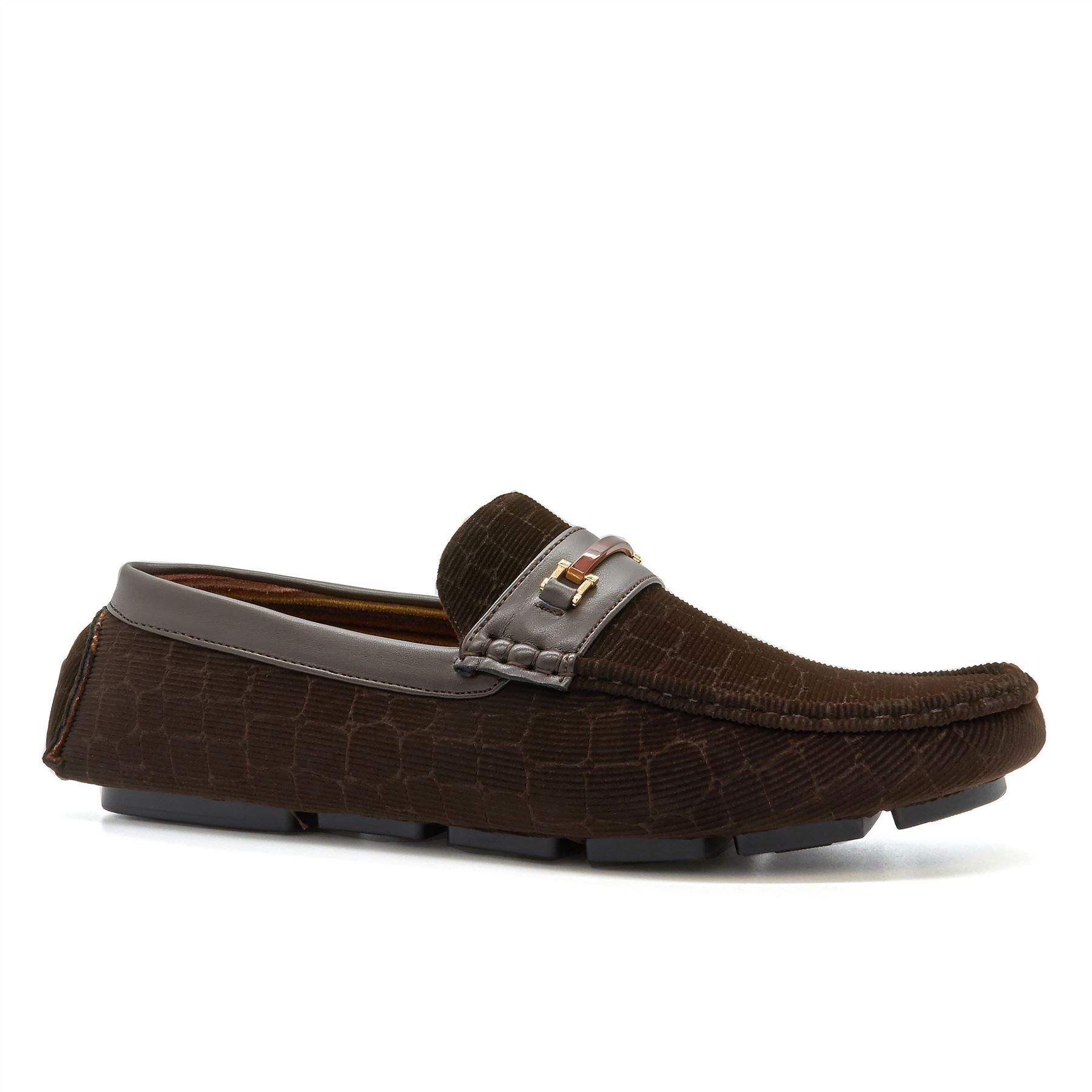 Brown Corduroy Driving Shoes