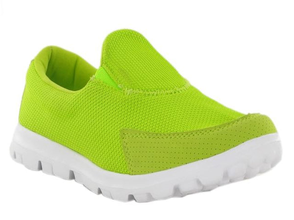 Green Lightweight Textile Mesh Trainers