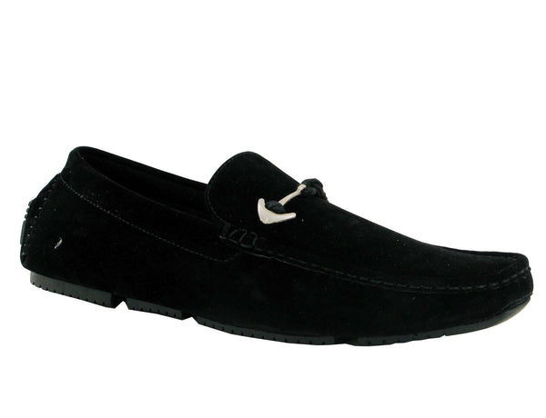 Black Anchor Buckle Driving Shoes