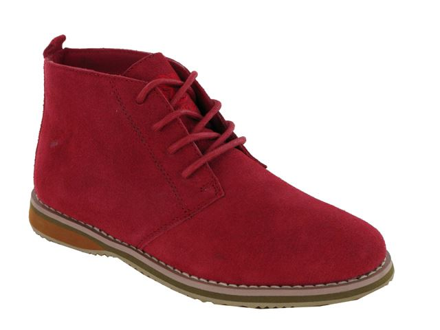 Red Suede Desert Boots