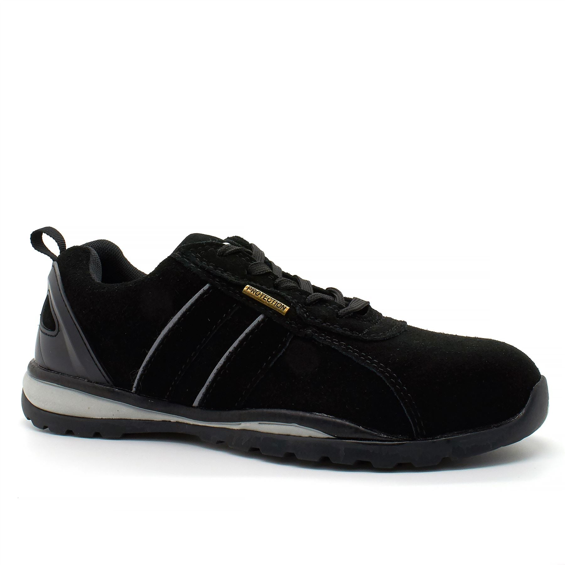 Black Suede Safety Trainers