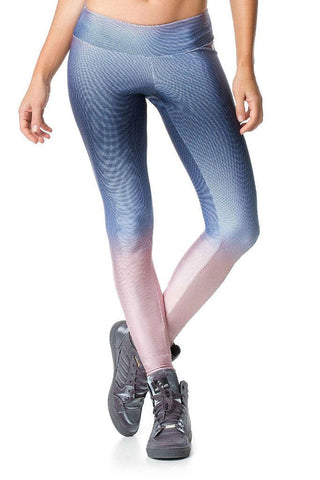 VESTEM Soft Blue Gradient Sexy Workout Leggings