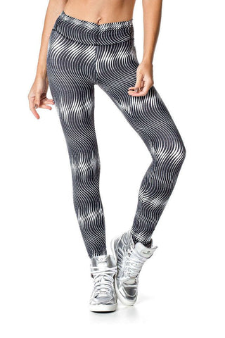VESTEM Whited Wave Stripes Yoga Pants
