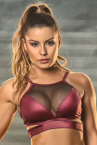 Cirre Fierce Meshed Chest Workout Sports Bra