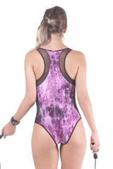 SPECIALITA Animal Print Activewear Cire Bodysuit