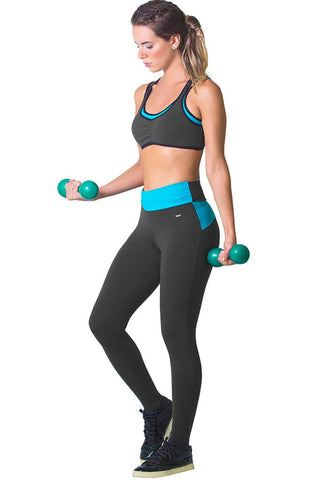 Basic Activewear Turquoise Leggings