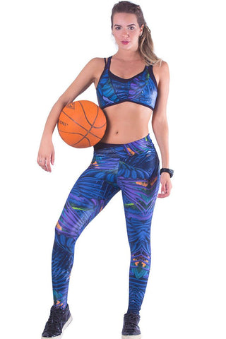 Nature Print Activewear Cire Leggings