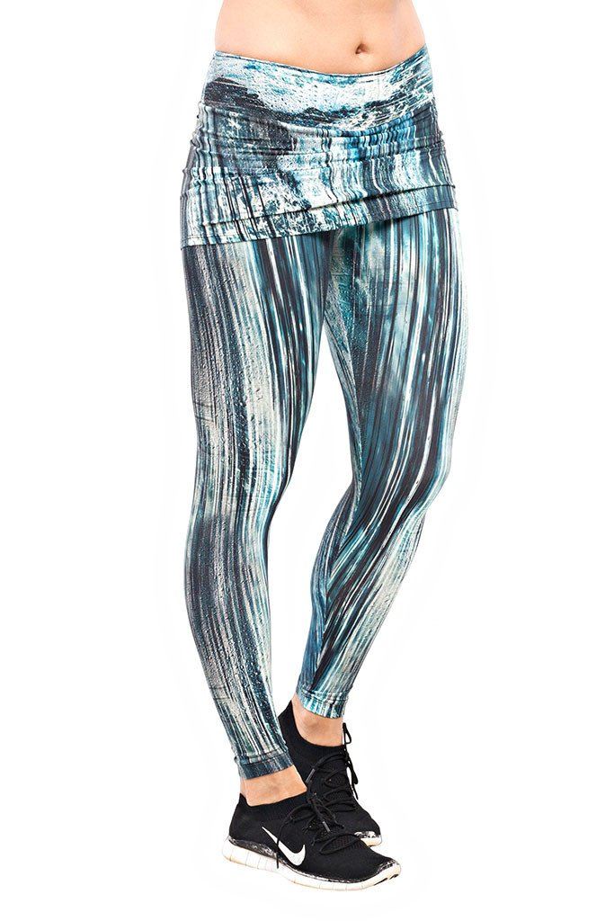 Trailline Beach Belissima Watery Print Workout Leggings