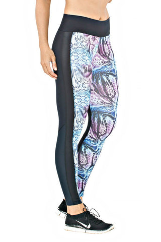 Trailline Black Colourful Front Workout Legging