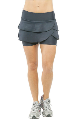 Trailline Black Doubled Lap Lia Workout Skort