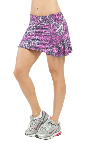 TRAILLINE Pink Animal Print Polly Workout Tennis Skort