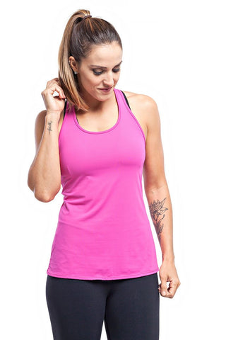 Trailline Polly Pink Teen Back Detailed Workout Tank