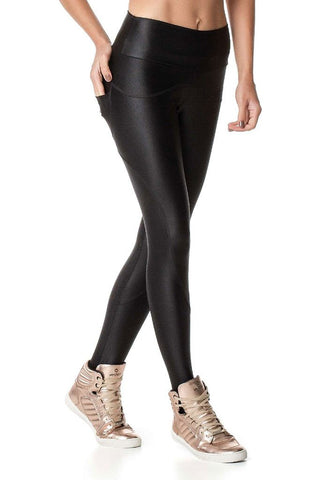 VESTEM Back Pocket Black Fashion Cire Outdoors Legging