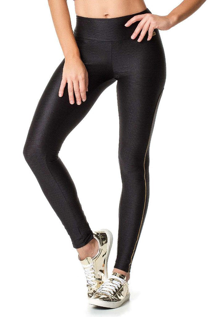 VESTEM Black Texturized Fashion Running Thighs