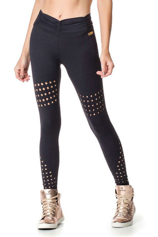 VESTEM Curtain Styled Waistband Fashion Pilates Legging
