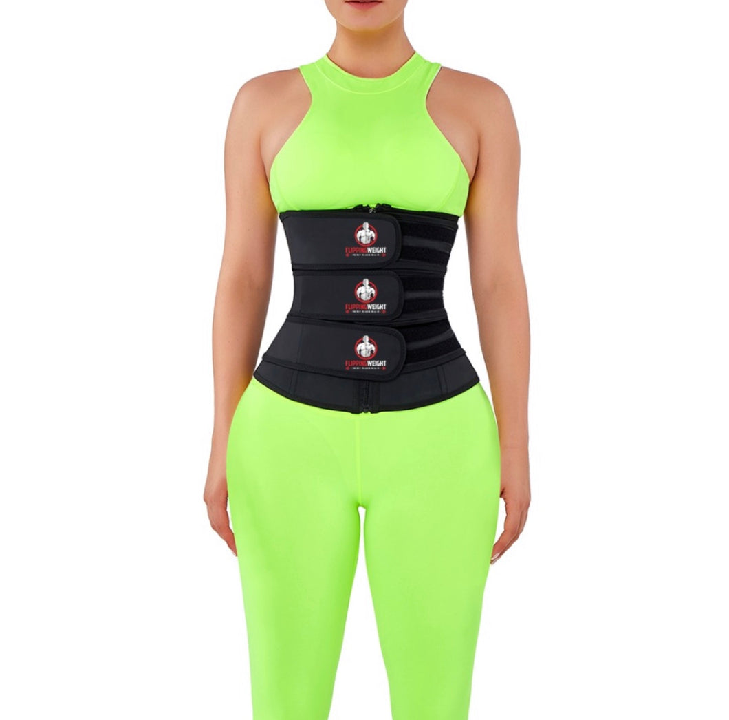 Flipping Weight® Waist Slimmer With Sticker Tummy Control Triple Strap