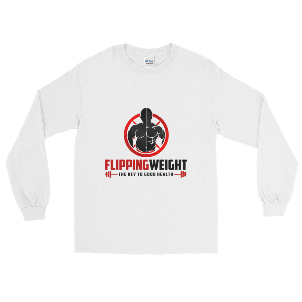 Flipping Weight® White Long Sleeve T-Shirt
