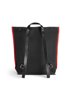 LARGE BLACK CANVAS BACKPACK ROBYN - Poli & Jo