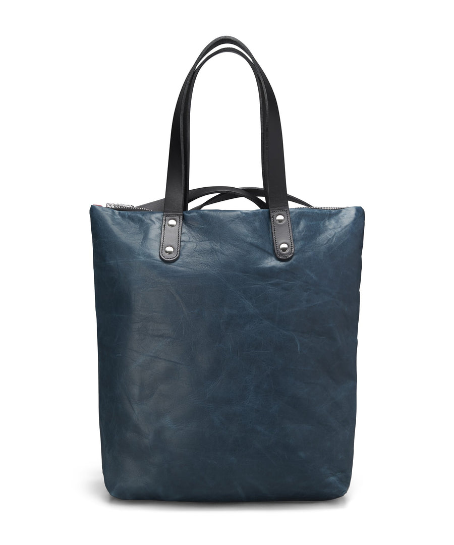 BLUE STONEWASH LEATHER ROBYN BACKPACK - Poli & Jo