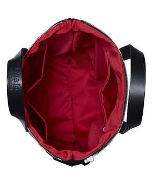 MAROON LEATHER ROBYN BACKPACK