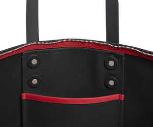 BLACK CANVAS BACKPACK ROBYN - Poli & Jo