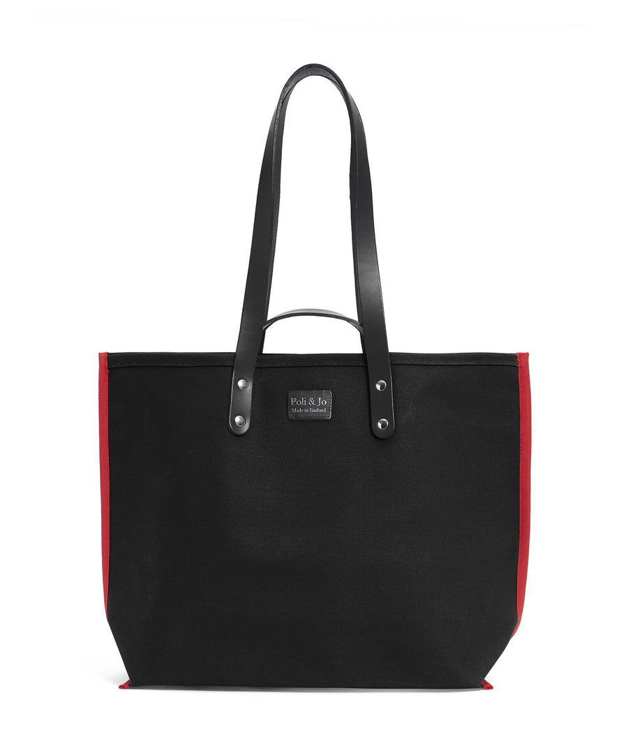 S1D1 SMALL BLACK CANVAS TOTE BAG - Poli & Jo