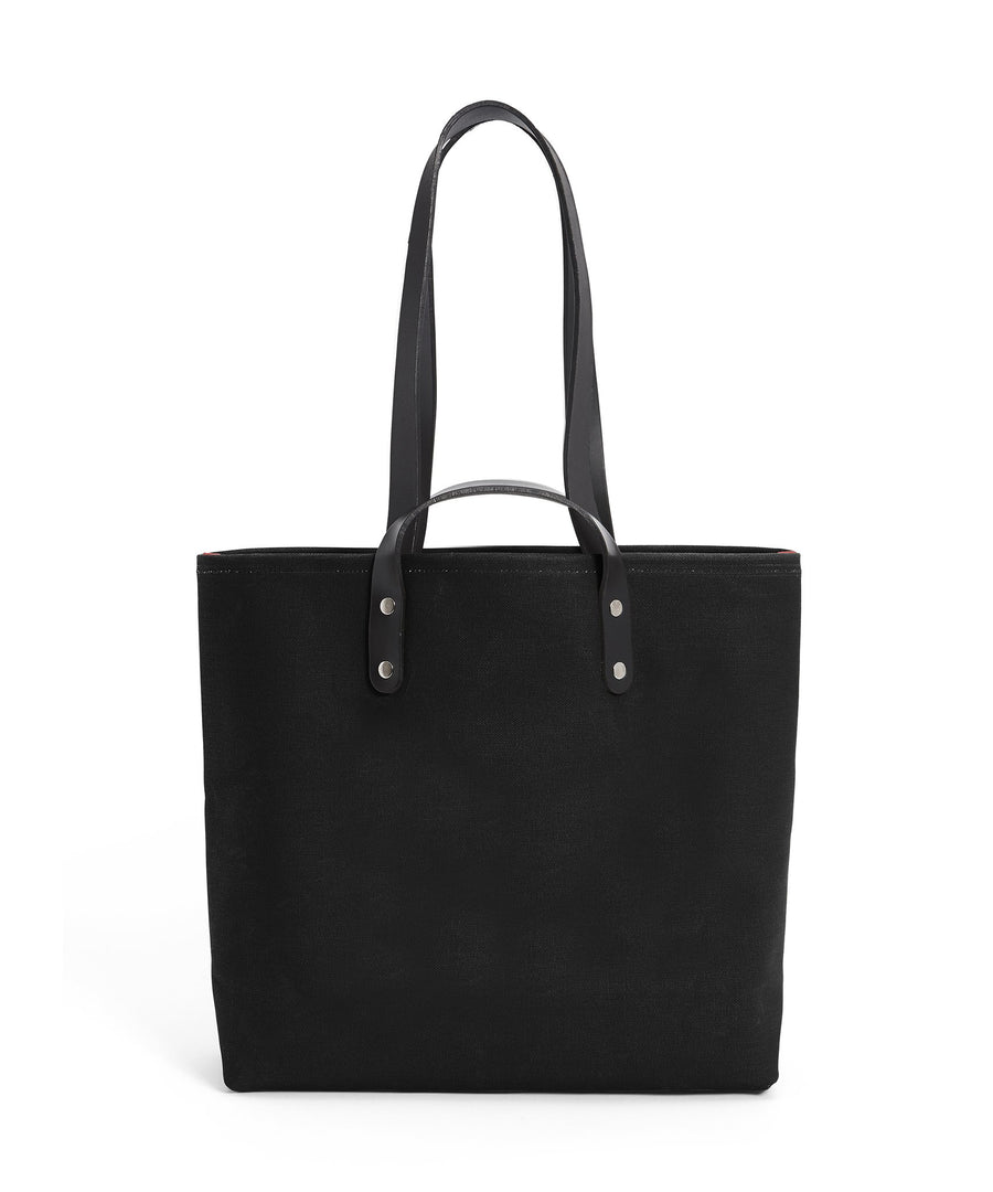 S1D1 SMALL BLACK CANVAS TOTE BAG