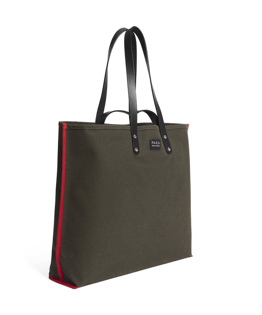 S1D3 LARGE CANVAS TOTE BAG