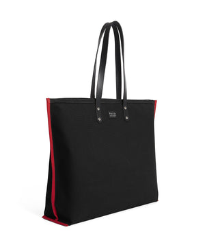 S2D3 LARGE BLACK CANVAS TOTE - Poli & Jo