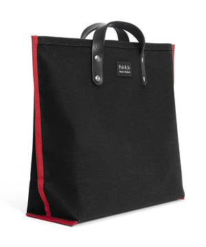 S3D1 SMALL BLACK CANVAS TOTE